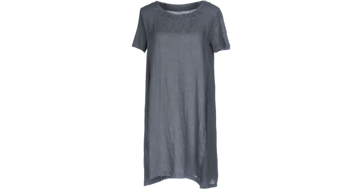 bc8bc72481 Lyst - 120% Lino Short Dresses in Gray
