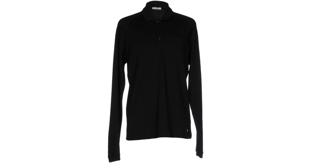 647431ad Versace Polo Shirt in Black for Men - Lyst