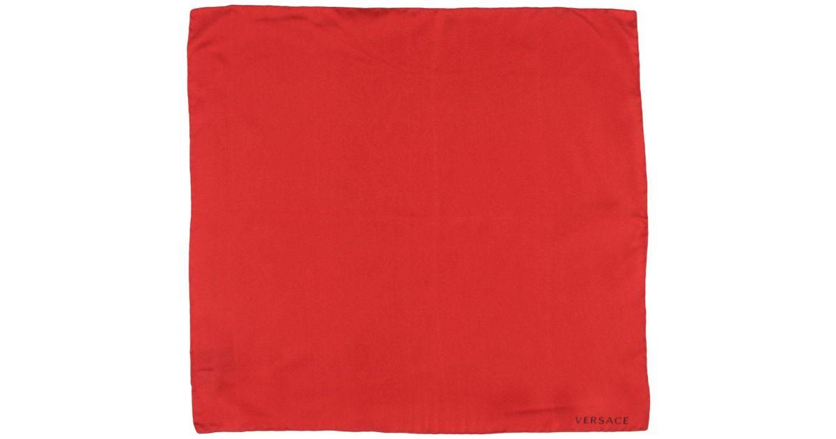 a5de800037e Lyst - Foulard Versace pour homme en coloris Rouge