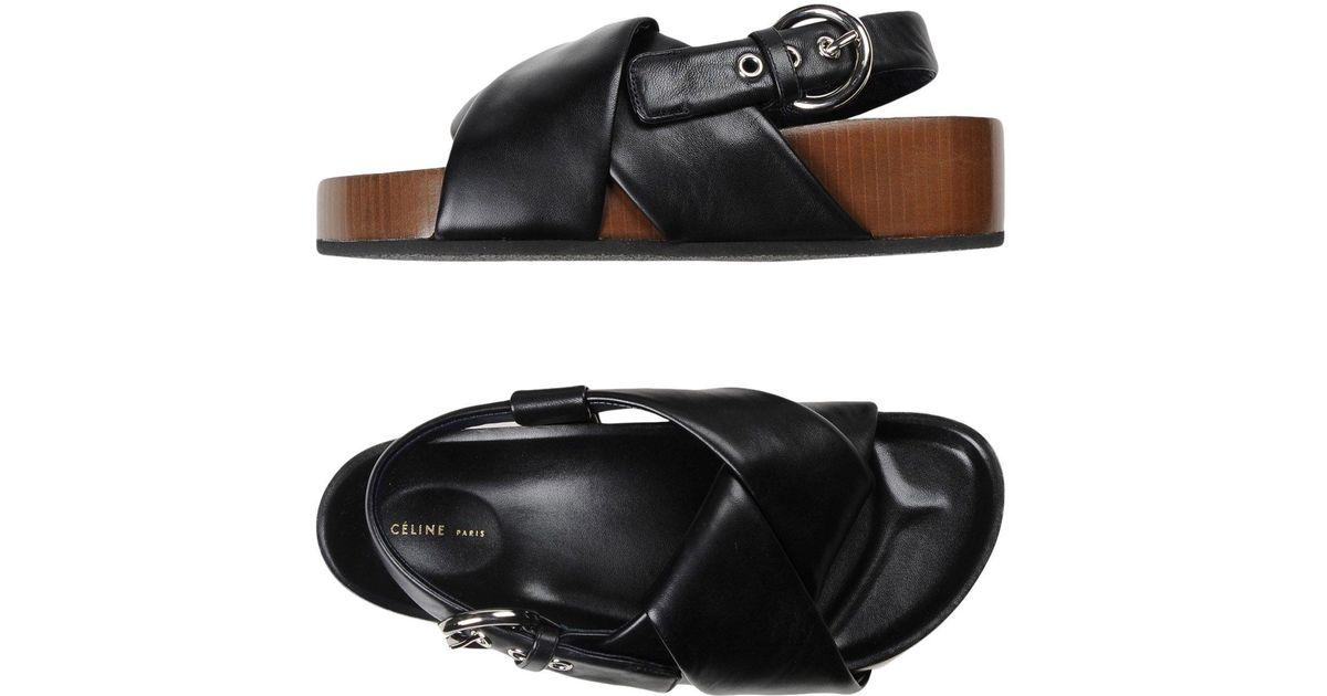 Black In Sandals Céline Lyst Lyst 8kn0OwPNX