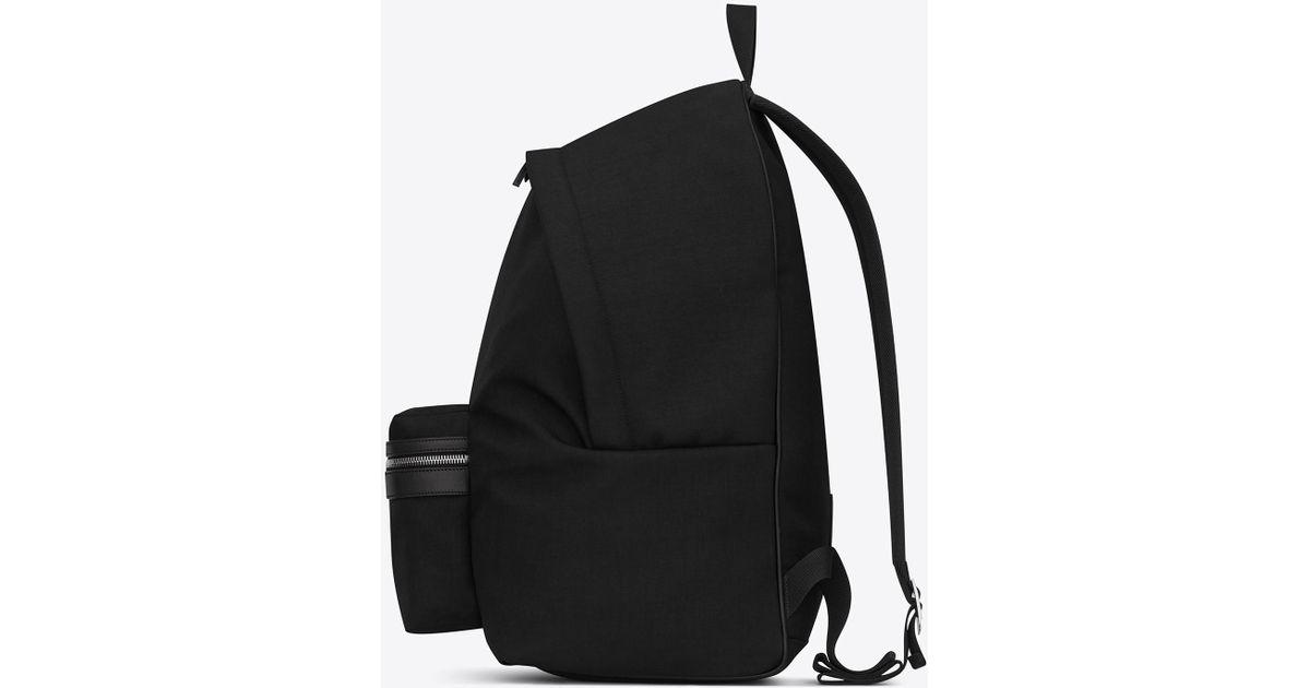 17734c2ec Saint Laurent City Backpack In Suede in Black for Men - Save 26% - Lyst