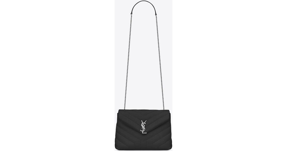 30c1d0b4a420b2 Saint Laurent Small Loulou Chain Bag In Black