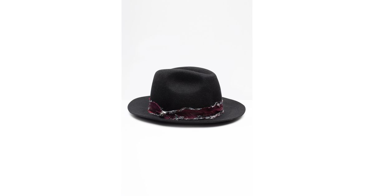 148c608203c58 ... cheapest lyst zadig voltaire alabama scarf hat in black 802c5 f60b2