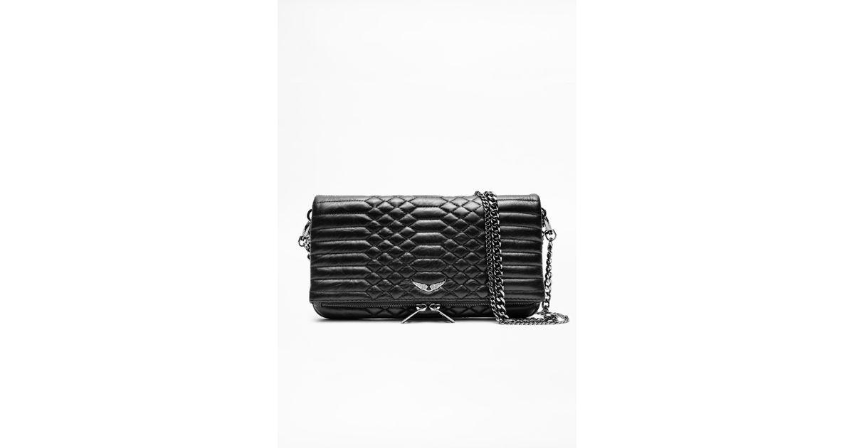 c7d1b17b8a Lyst - Zadig   Voltaire Rocky Matelasse Bag in Black