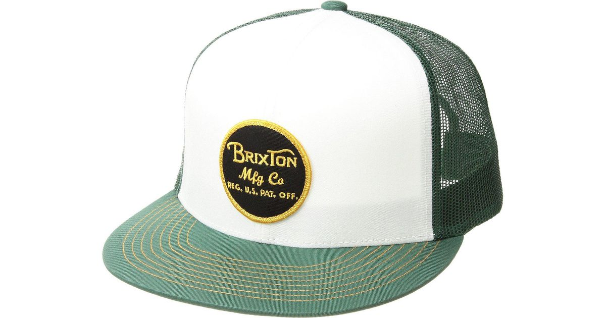 8f7dd338b2e Lyst - Brixton Wheeler Mesh Cap in Green for Men