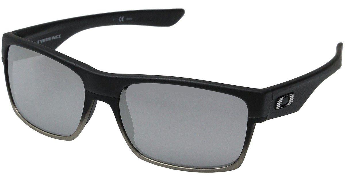 ba0fe169d3c ... canada lyst oakley two face matte black grey polarized sport sunglasses  in black for men 458bd