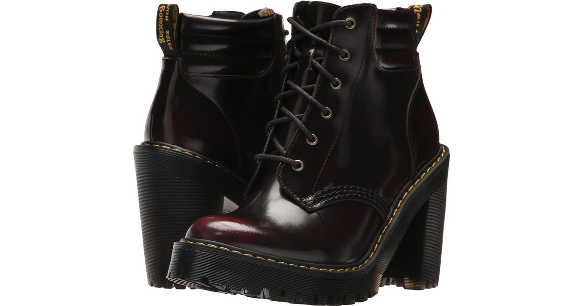 9699b9586 Lyst - Dr. Martens Persephone 6-eye Padded Collar Boot in Black