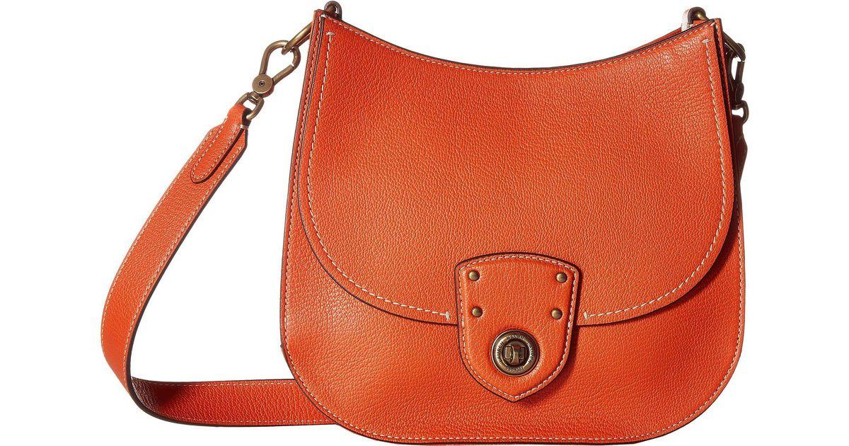 6df966282d Lyst - Lauren by Ralph Lauren Millbrook Convertible Crossbody Large in  Orange