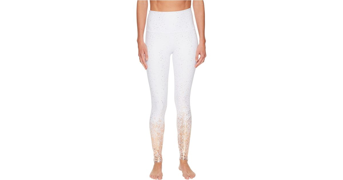 32ad8ca966 Beyond Yoga Alloy Ombre High-waisted Midi Leggings in White - Lyst