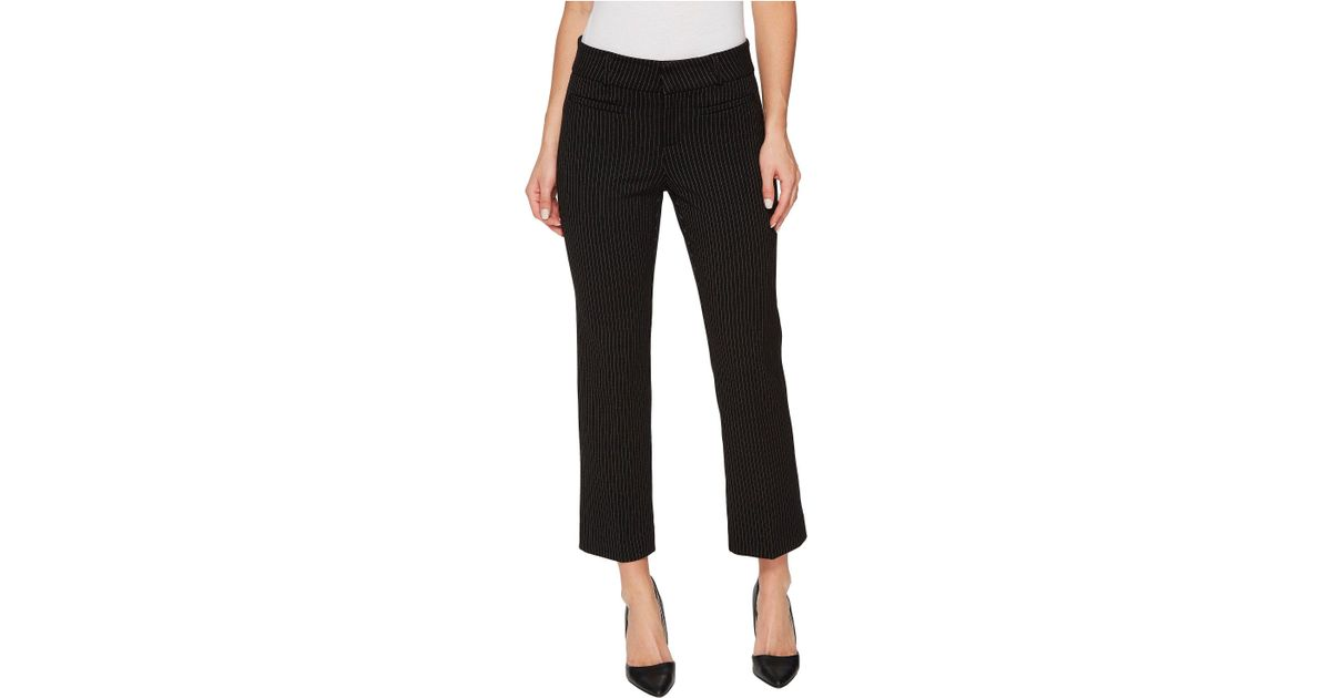 90e1526f4831f Liverpool Jeans Company Vera Crop Flare Trousers With Welt Pockets In Mini  Check Ponte Knit in Black - Lyst