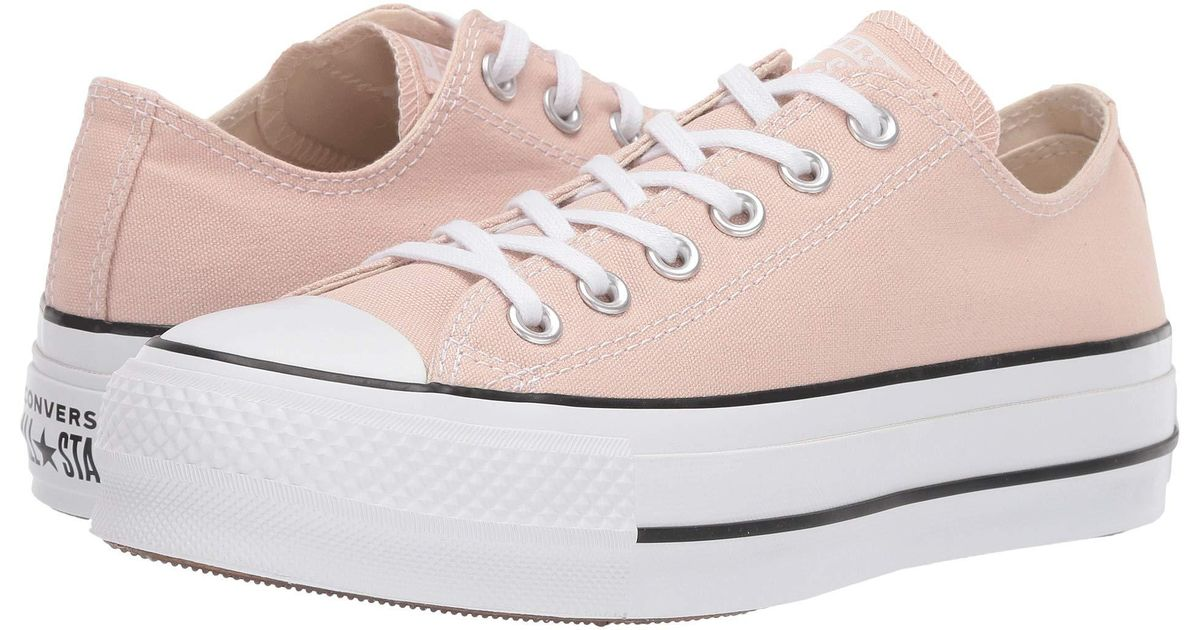 39678f068c16 Lyst - Converse Chuck Taylor(r) All Star(r) Seasonal Color Lift Ox (desert  Peach white black) Women s Shoes in White