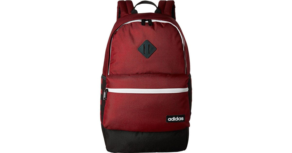 86c47bf0a9 Lyst - adidas Classic 3s Backpack in Red for Men