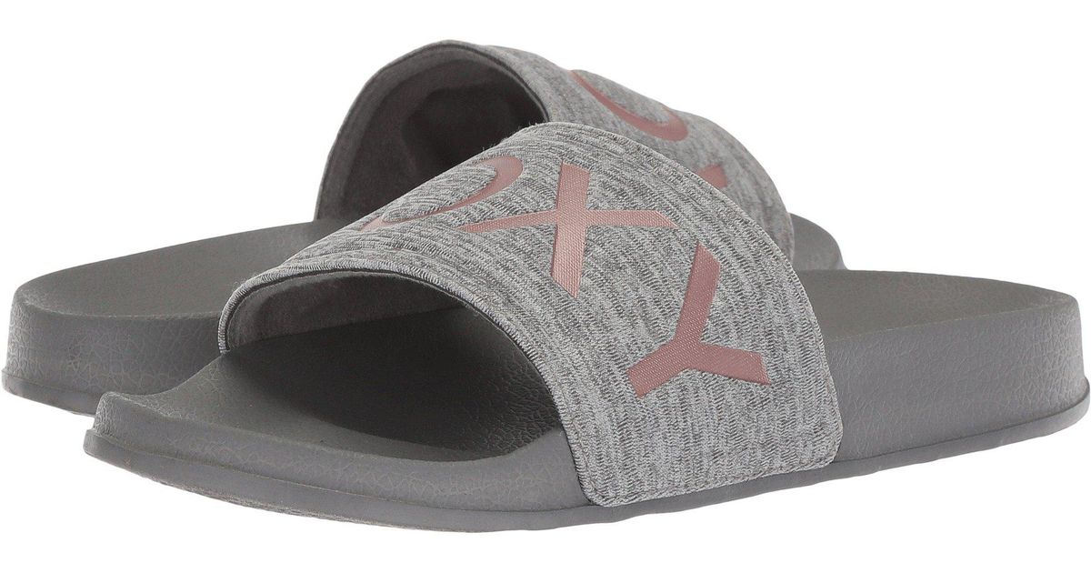 c77cf1853831 Lyst - Roxy Slippy Slide Sandal Sport in Gray - Save 50%