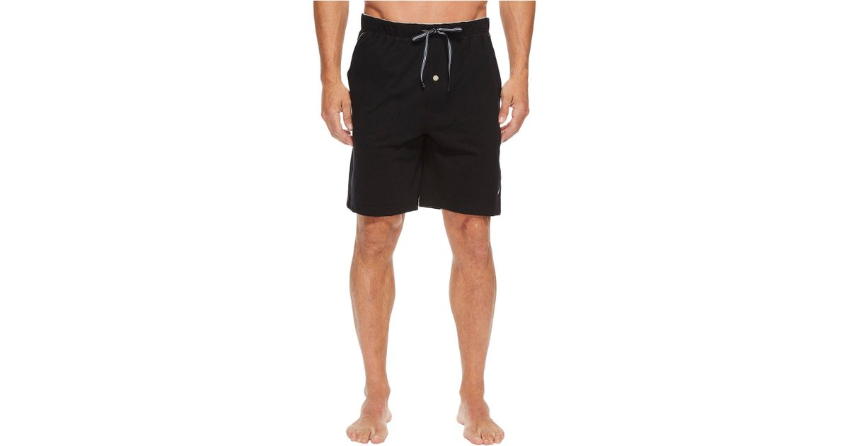 e5006ebc16 Lyst - Nautica Knit Sleep Shorts (grey Heather) Men s Pajama in Black for  Men