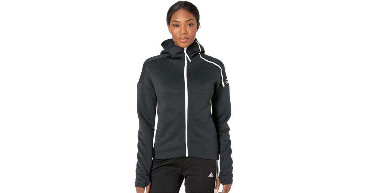 big sale 64f5e 3d3ce adidas Zne Hoodie 3.0 (zne Heather black) Women s Sweatshirt in Black - Lyst