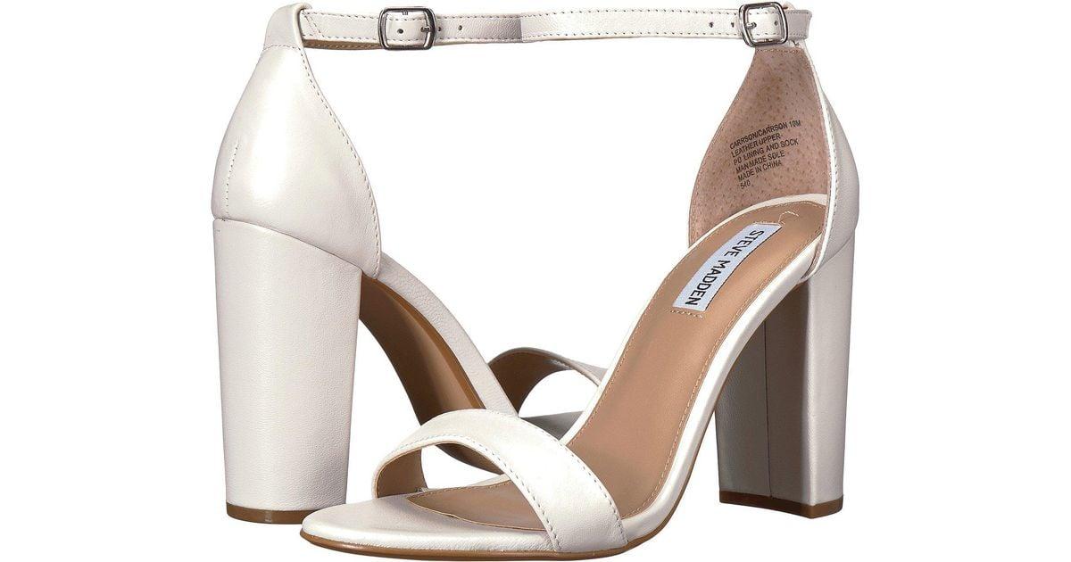 ab65b3704e7 Lyst - Steve Madden Carrson Heeled Sandal (black Suede) High Heels