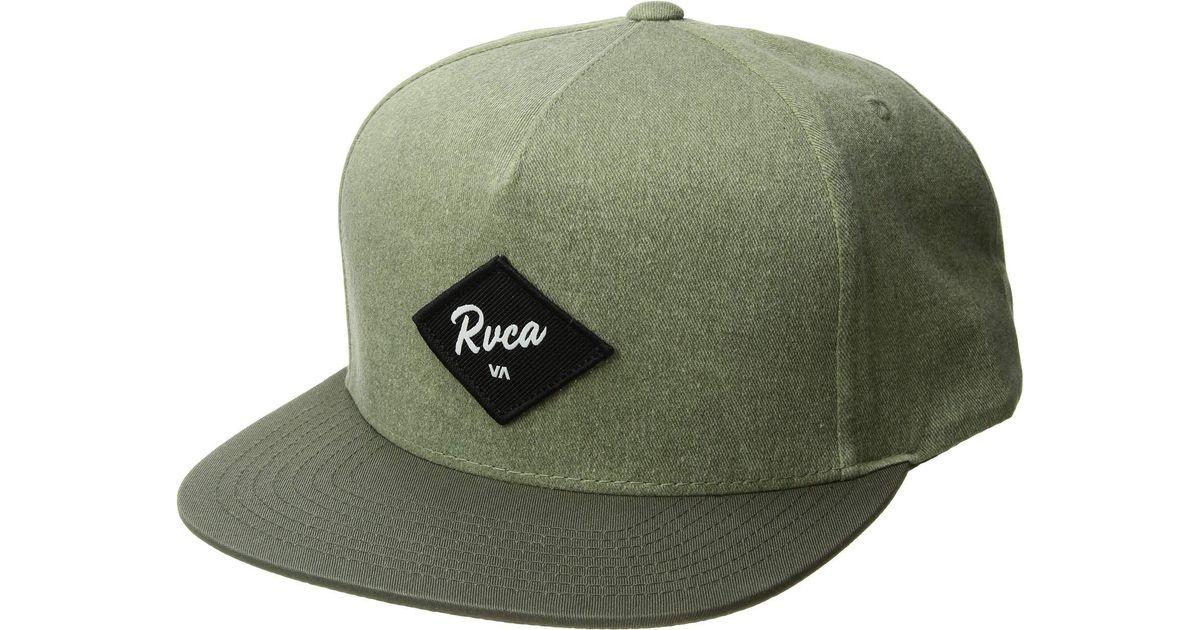 a1a4df4656f Lyst - RVCA Wilshire Snapback Hat (fatigue) Baseball Caps in Green for Men
