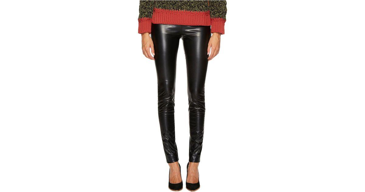 d13e2a23821f3 M Missoni Faux Leather Leggings (black) Women's Casual Pants in Black - Lyst
