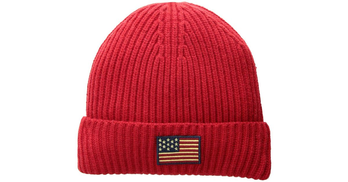 c8933a24e3 Lyst - Polo Ralph Lauren American Flag Cuff Hat (hunter Navy) Caps in Red  for Men