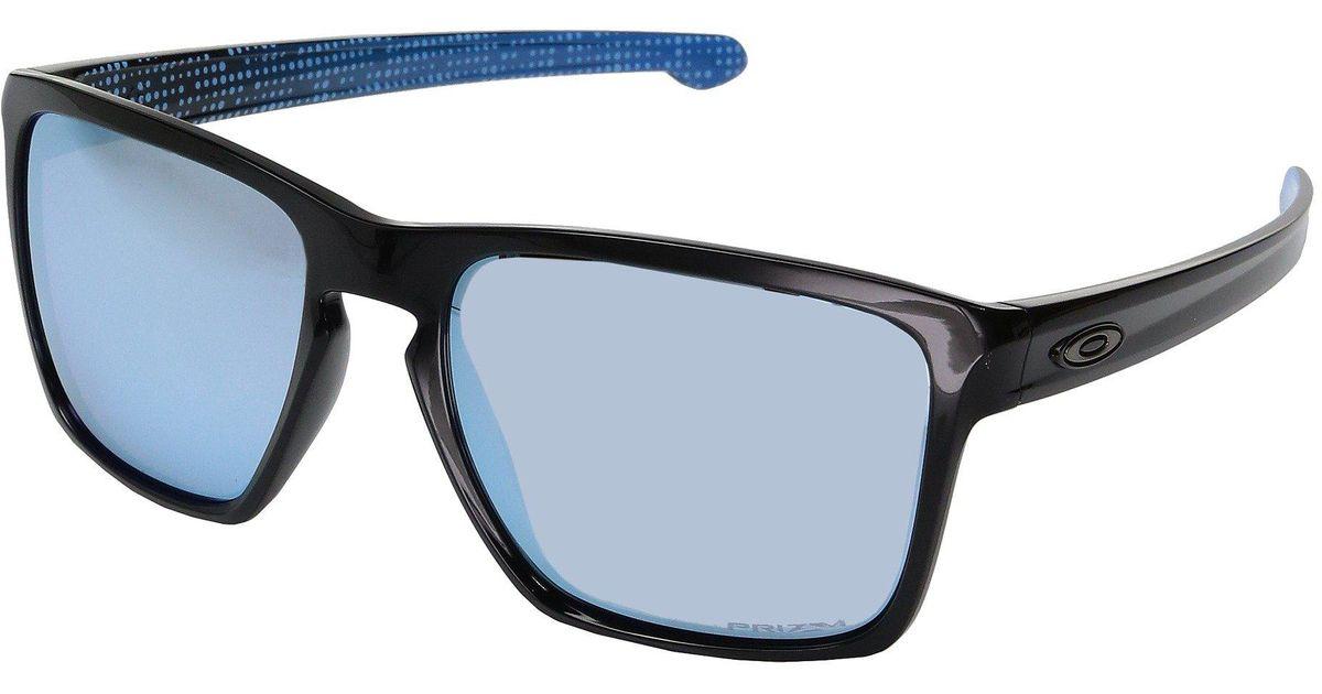 32eb874eb3e Lyst - Oakley Sliver Xl (matte Black W  Prizm Black Polarized) Fashion  Sunglasses in Blue for Men