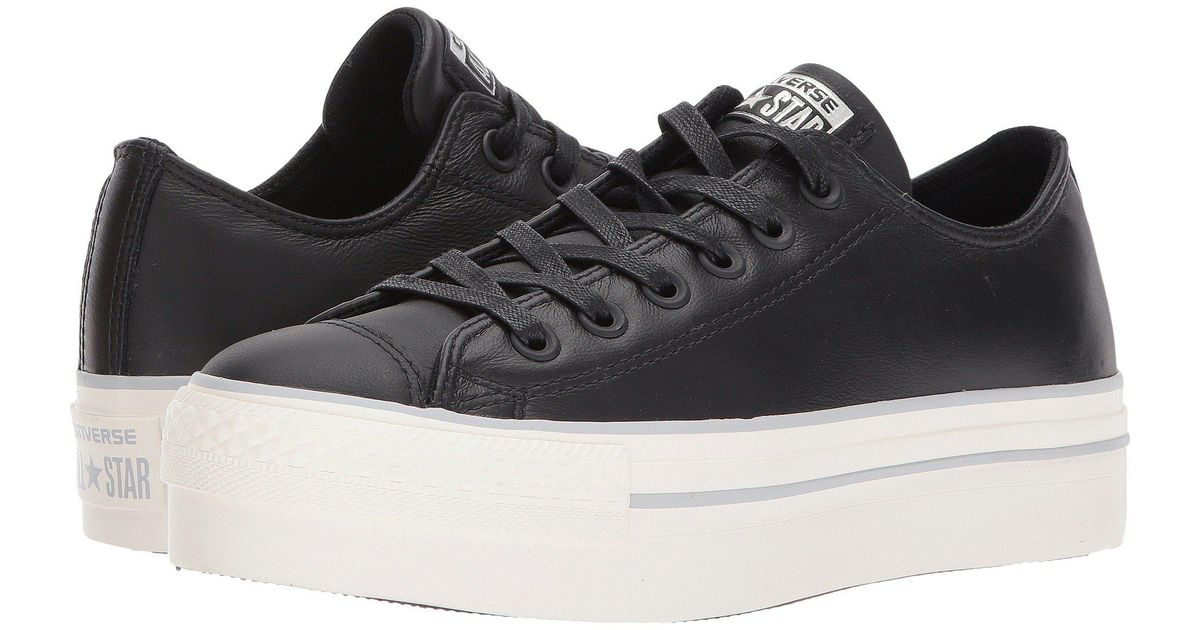 334c82043c6e Lyst - Converse Chuck Taylor® All Star® Platform Leather Ox in Black