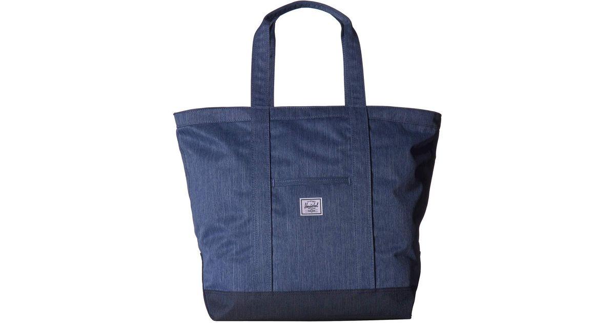 d1a5c04fe56 Lyst - Herschel Supply Co. Bamfield Mid-volume (faded Denim indigo Denim)  Tote Handbags in Blue