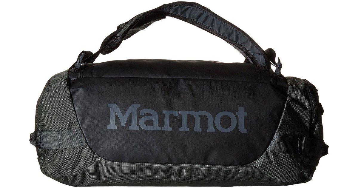 Lyst Marmot Long Hauler Duffle Bag Small Slate Grey Black Duffel Bags In Gray For Men