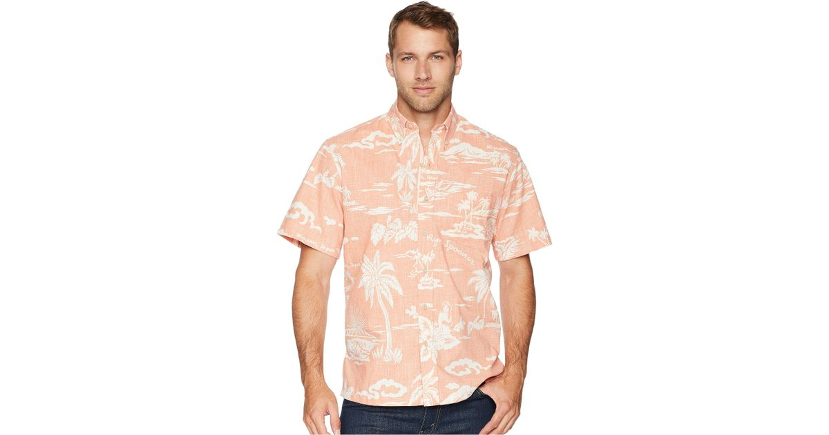 fe0b19fa Reyn Spooner My Private Isle Classic Fit Aloha Shirt in Pink for Men - Lyst