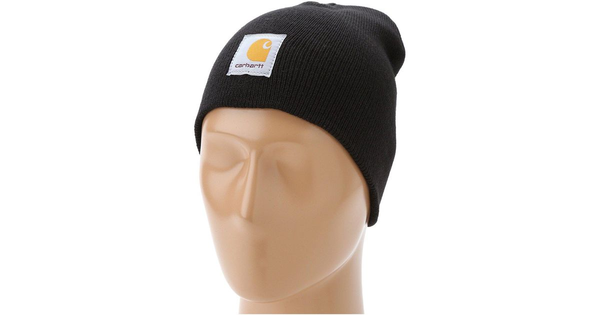 b3e9c8f3fb860 Lyst - Carhartt Acrylic Knit Hat in Black for Men