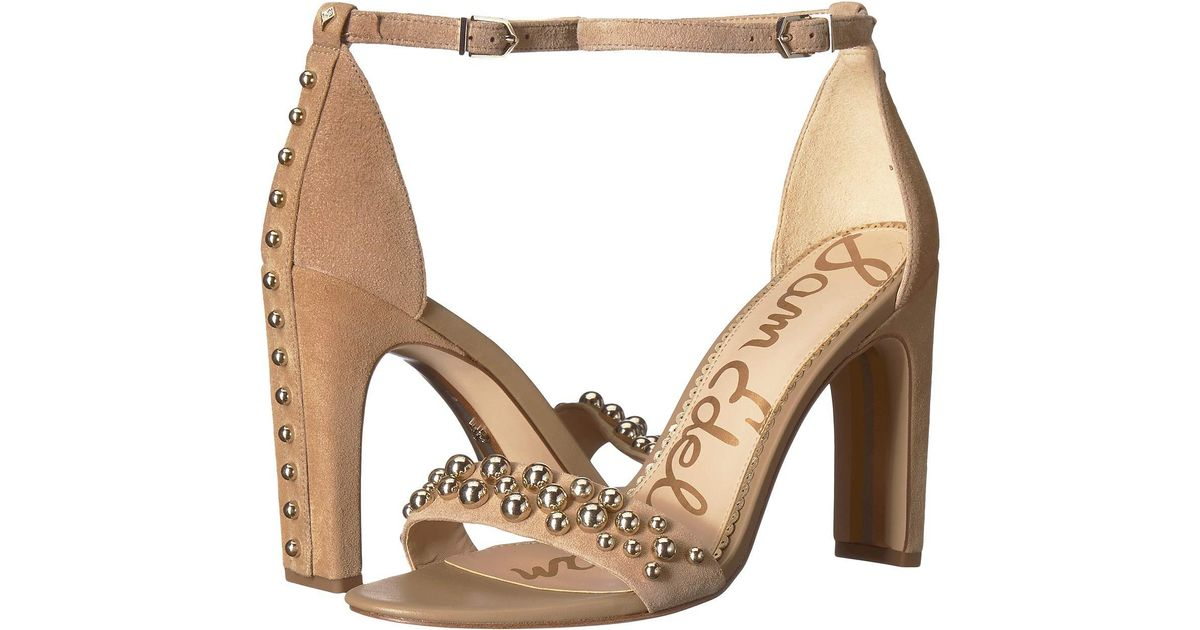 118e19aef262 Lyst - Sam Edelman Yoshi (oatmeal Kid Suede Leather) Women s Shoes in  Natural