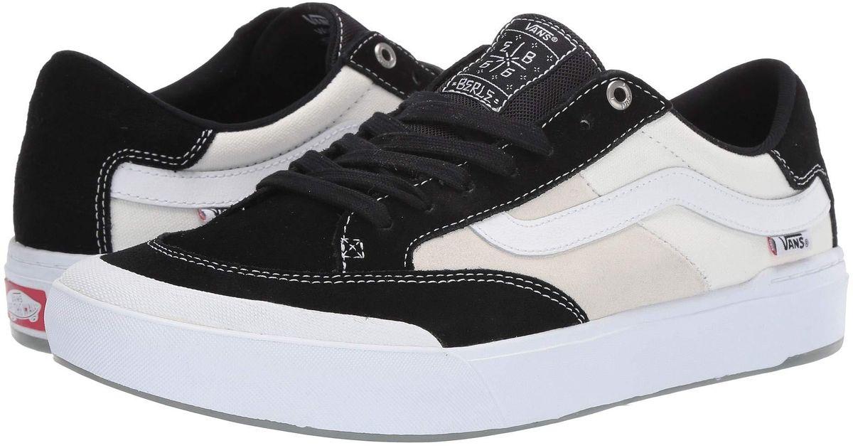 1bf6c86fff0afc Lyst - Vans Berle Pro (black white) Men s Skate Shoes in Black for Men