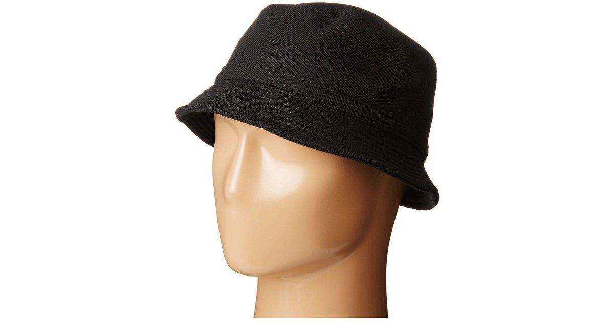 2efbec1d08ab68 Lacoste Pique Bucket Hat (black) Caps in Black for Men - Lyst