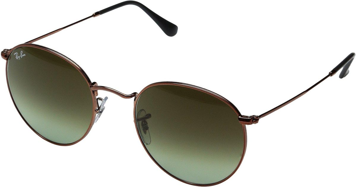 1fa9394d7c Lyst - Ray-Ban 0rb3447 Round Metal Classic 53mm (gold green Gradient)  Fashion Sunglasses in Green