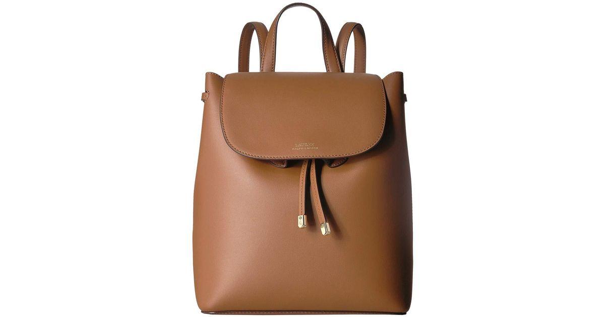 Lyst - Lauren by Ralph Lauren Dryden Flap Backpack (field Brown orange)  Backpack Bags in Brown b0562fbb229c9