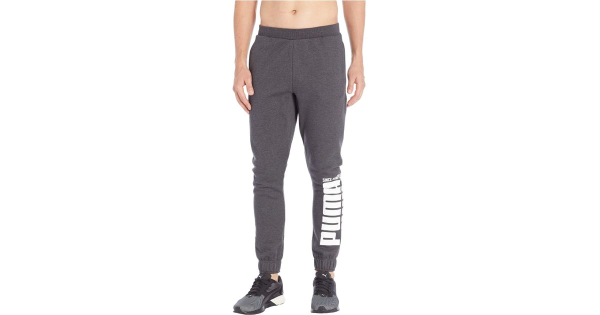 c0463910a6f2 Lyst - PUMA Rebel Bold Pants Fleece (dark Grey Heather) Men s Casual Pants  in Gray for Men