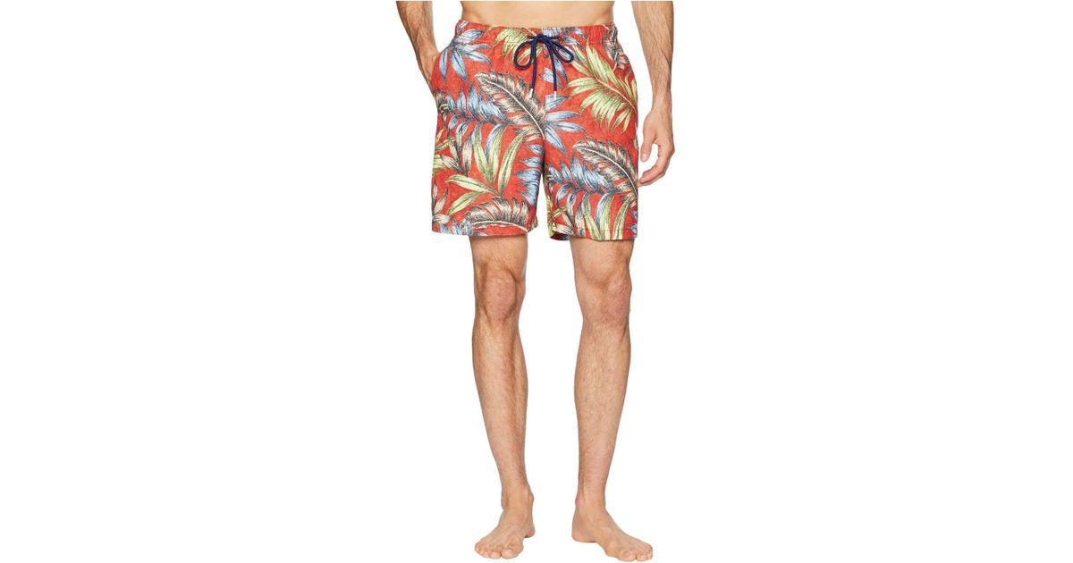 95ae0e893f Tommy Bahama Naples Parque Palms Swim Trunks (poinciana) Men's Swimwear for  Men - Lyst