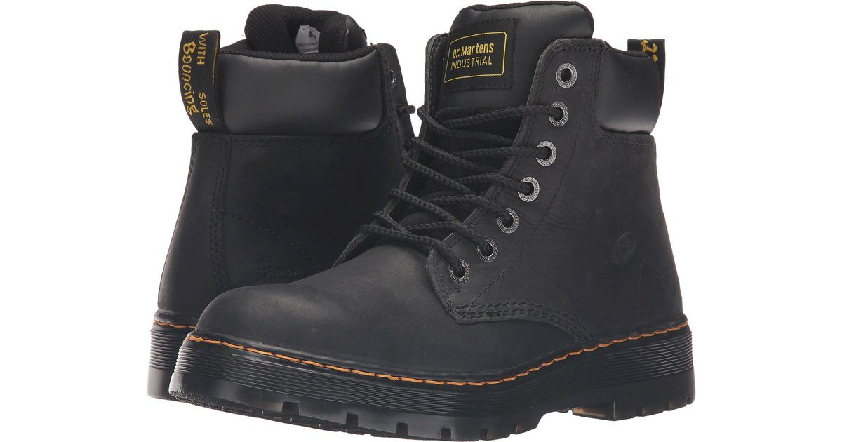 95992967272 Dr. Martens - Multicolor Winch Service 7-eye Boot (black Wyoming) Men's  Work Lace-up Boots for Men - Lyst
