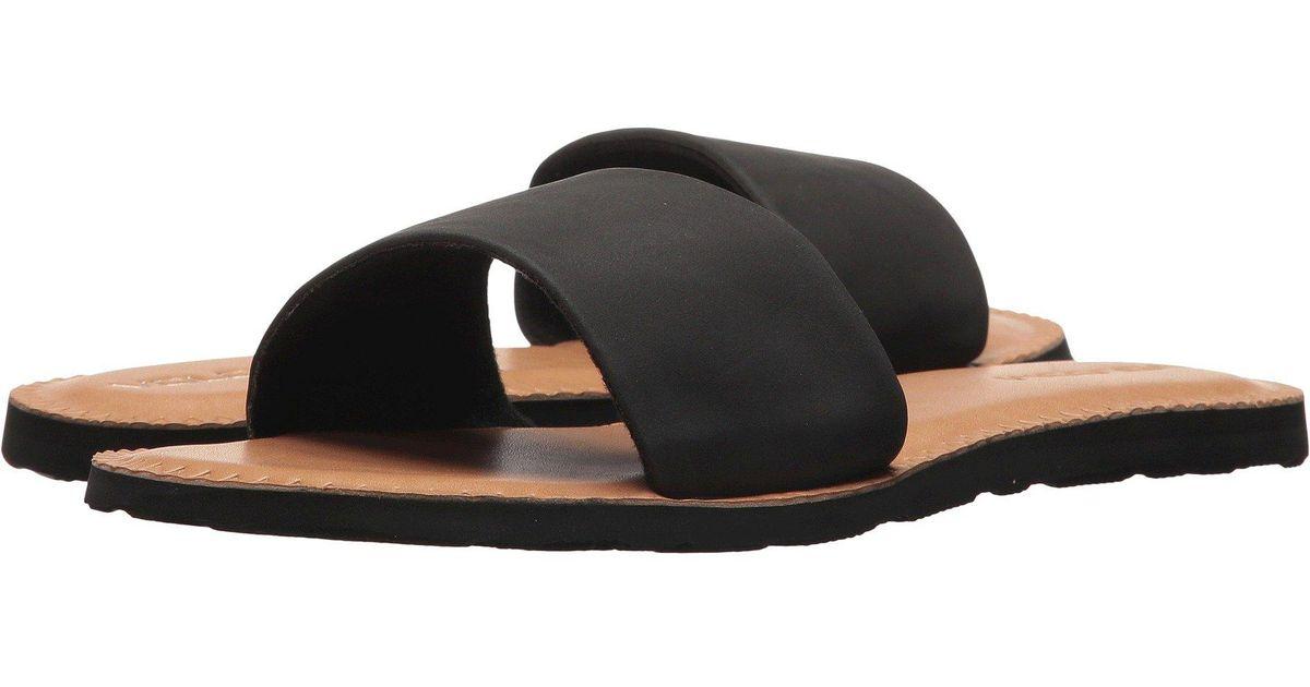 1ef7307c5 Lyst - Volcom Simple Slide Sandals (black Combo) Women s Sandals in Black