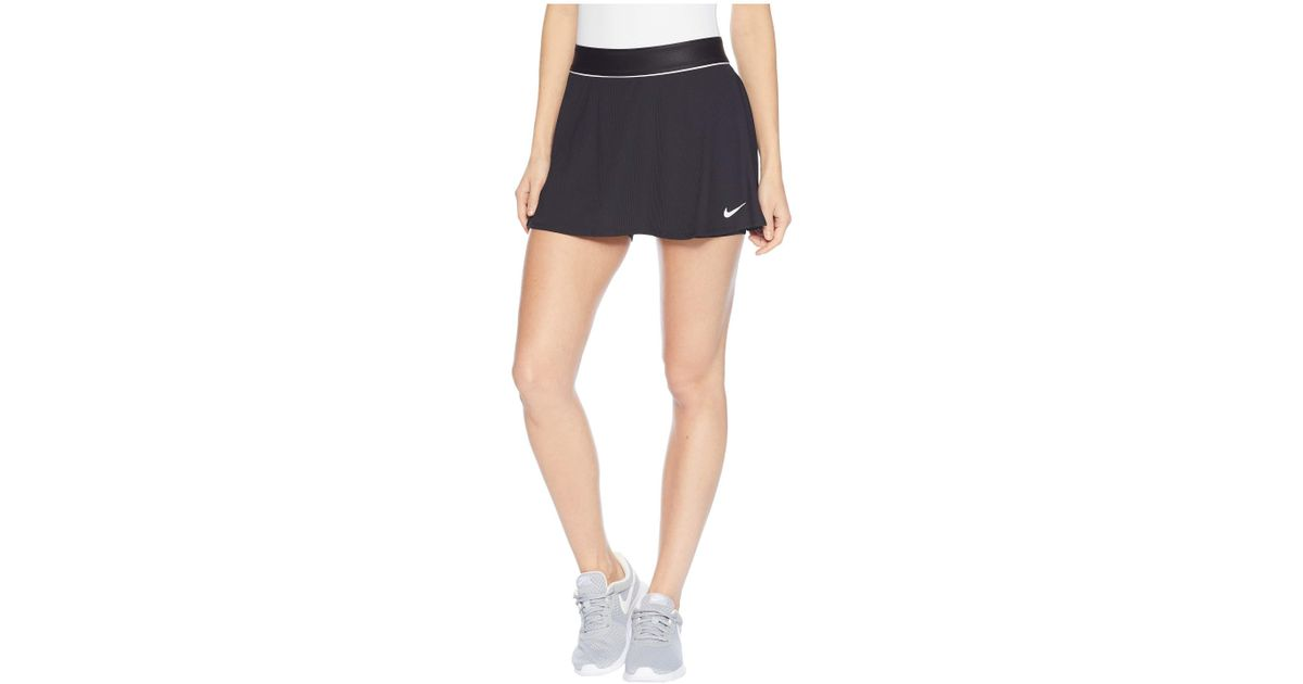 536076fea4ad7 Lyst - Nike Court Dry Skirt Flouncy (black white black) Women s Skirt in  Black