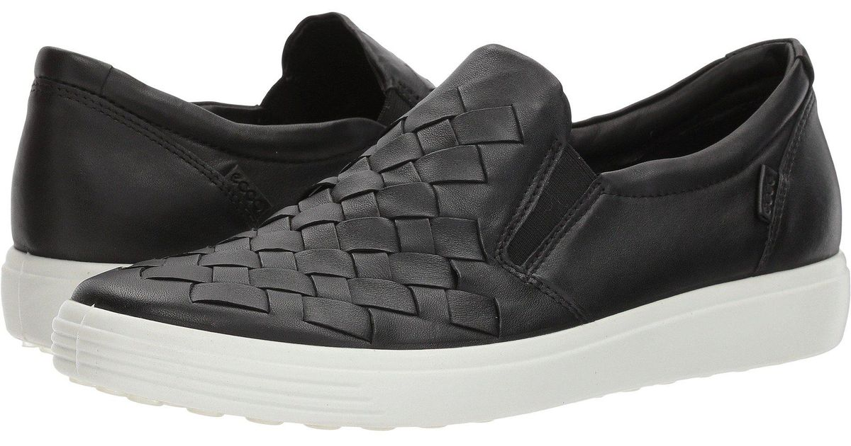 2f4b4cdd249a Lyst - Ecco Soft 7 Slip On Sneaker Fashion in Black - Save 1%