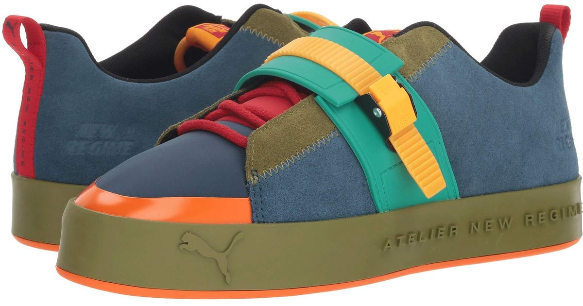 Lyst - PUMA X Anr Atelier New Regime Court Platform Brace Sneaker (blue  Wing Teal olive Branch) Shoes in Blue ab39e3cbd