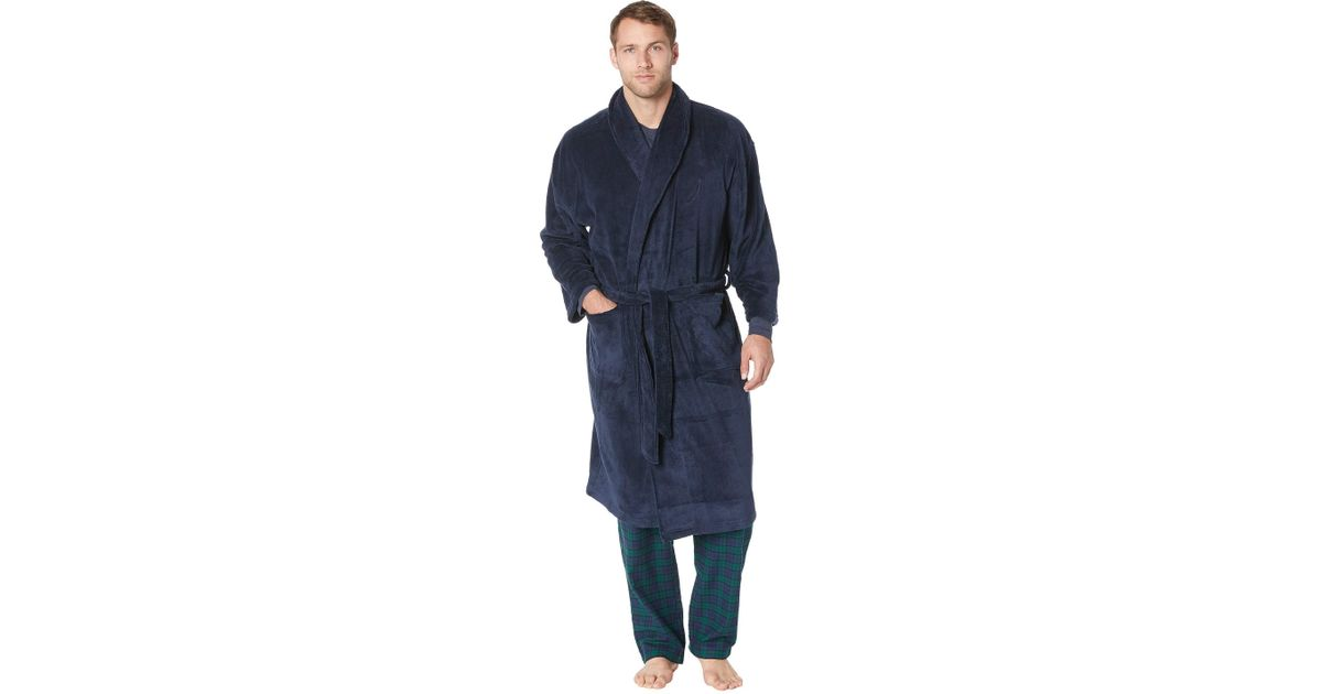Lyst - Nautica Solid Shawl Robe in Blue for Men - Save 44% 89e3fb901