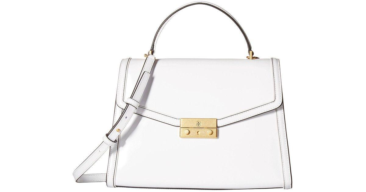 9214846c6c04 Lyst - Tory Burch Juliette Top-handle Satchel (white) Satchel Handbags in  White