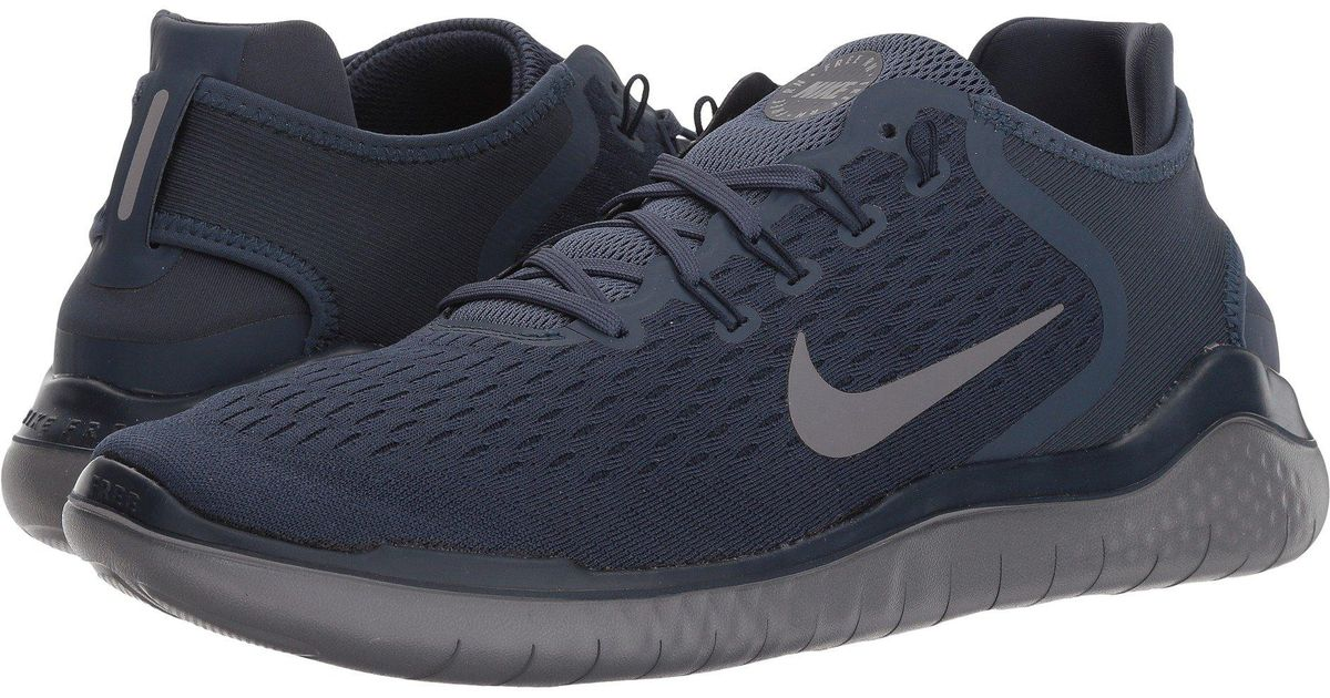 Nike Blue Free Rn 2018 (wolf Greywhitevolt) Men's Running Shoes for men