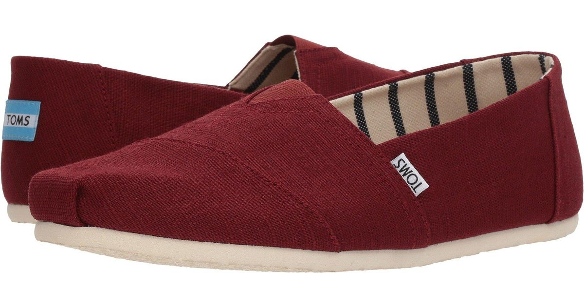 26cefd73acd Lyst - TOMS Venice Collection Alpargata (airforce Blue Heritage Canvas)  Men s Slip On Shoes in Red for Men