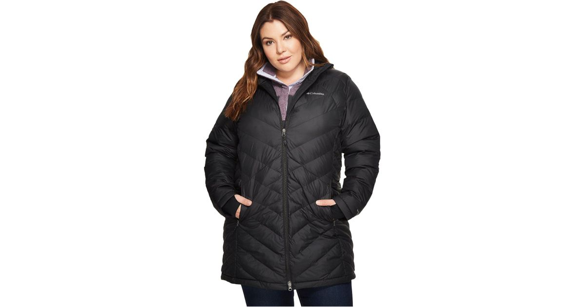 bad3472e683 Lyst - Columbia Heavenly Water Resistant Insulated Long Hooded Jacket in  Black