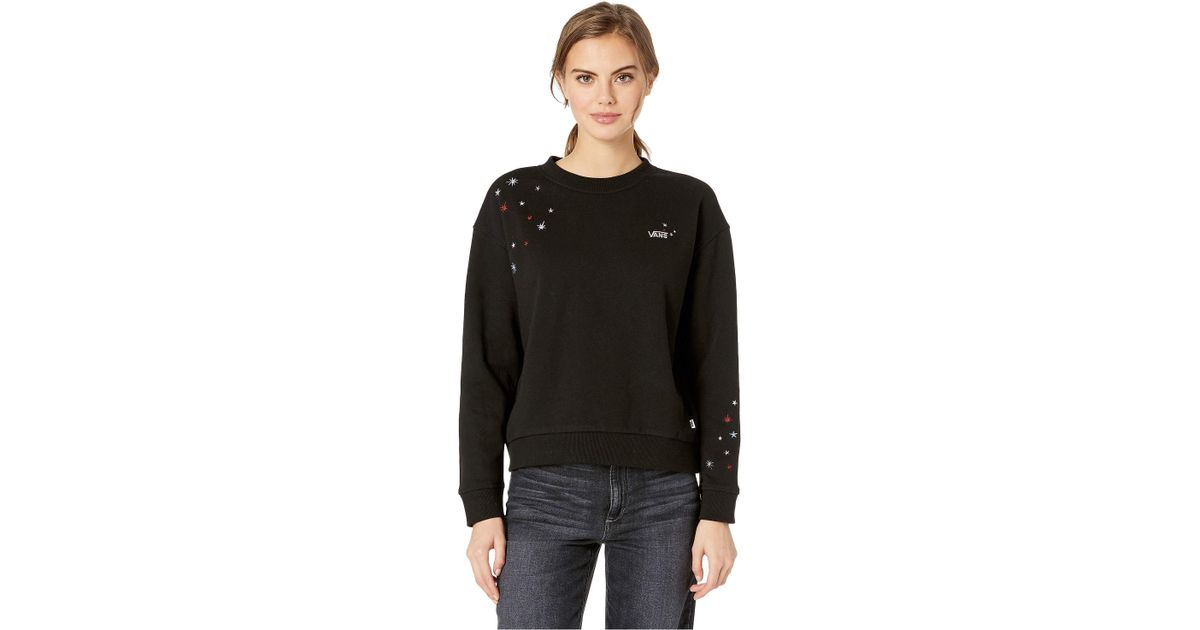 94317496ea Lyst - Vans Lynx Crew Fleece (black) Women s Fleece in Black