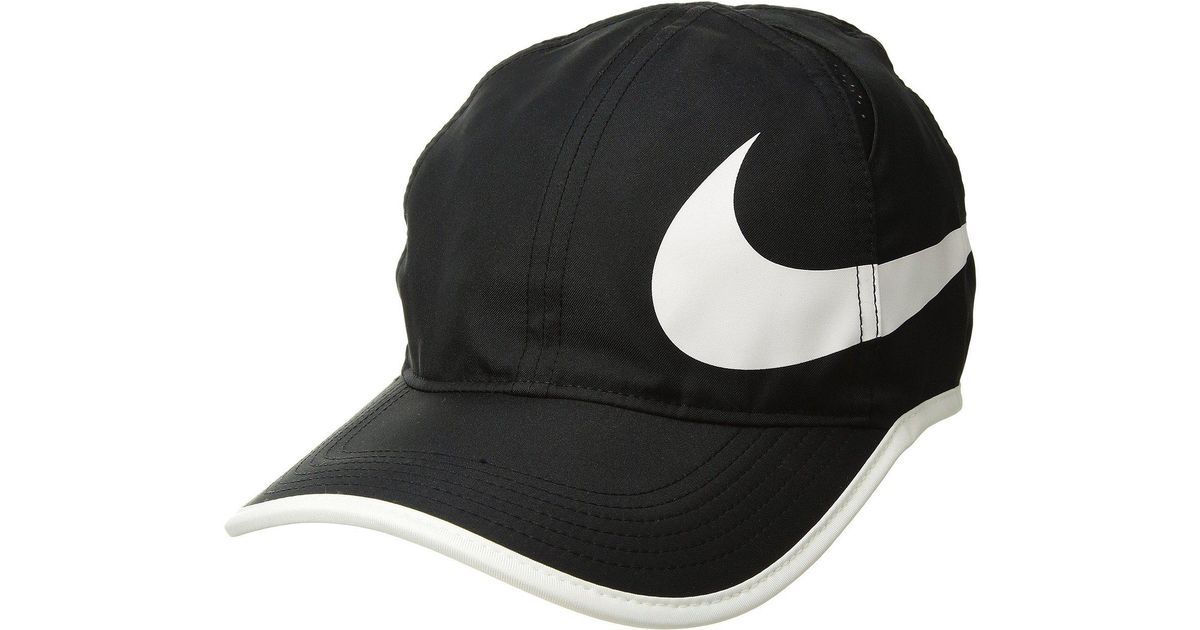 7725a9ce Nike Court Aerobill Featherlight Tennis Cap (cool Grey/pure Platinum/pure  Platinum) Caps in Black for Men - Lyst