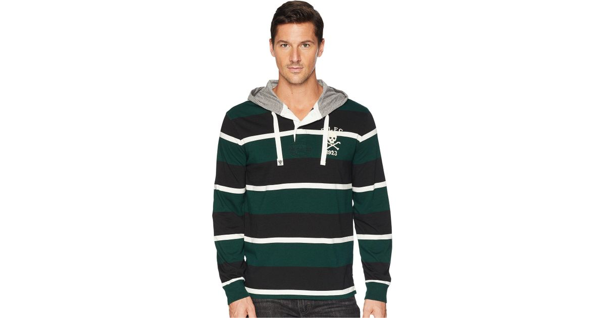 a780ae8ee3d ... uk lyst polo ralph lauren rugby jersey pullover t shirt classic wine mens  clothing in green
