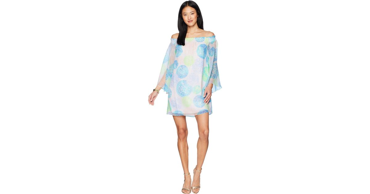 4b1cb8137ce3c4 Lilly Pulitzer Abi Silk Dress in Blue - Lyst